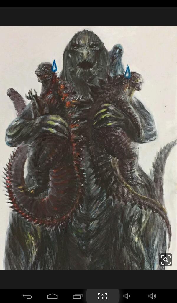 La familia de Godzilla 😄