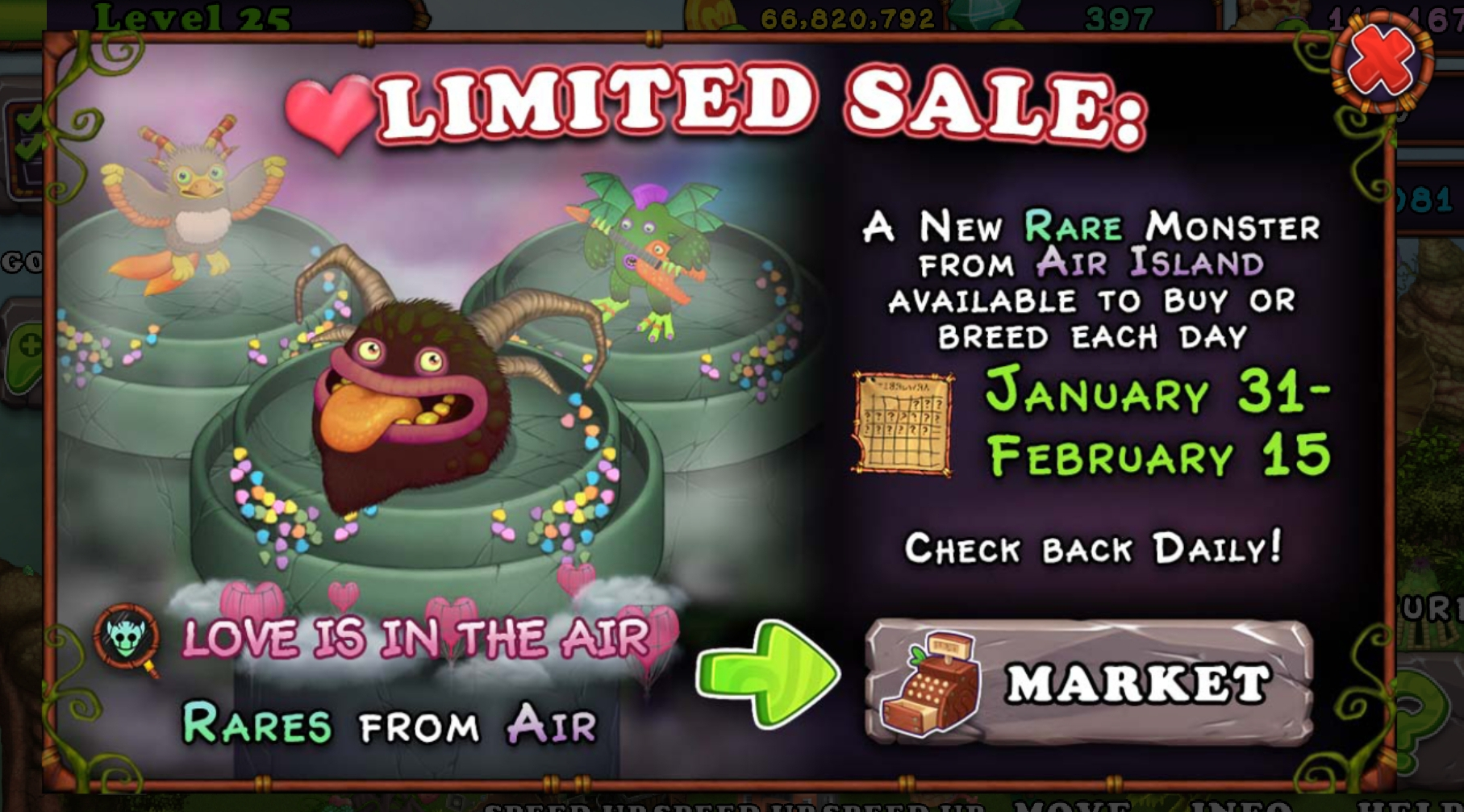 All Rare Monsters From Air Island Sale Starting Today!