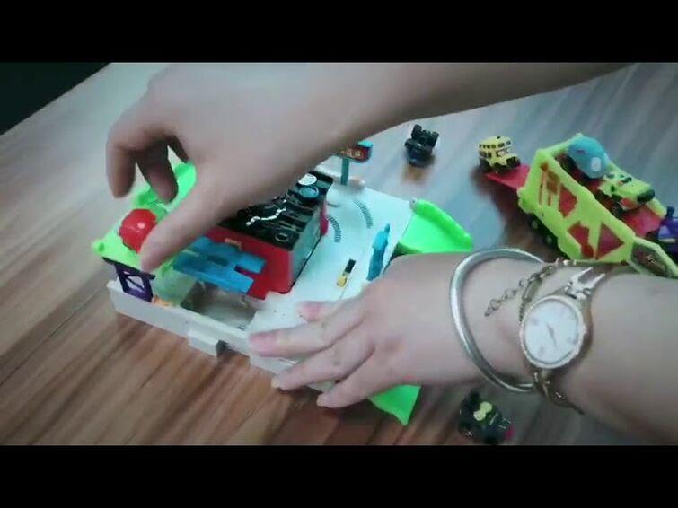 Trash Wheels Burger Flip out Mege Kit  Original Mainan anak