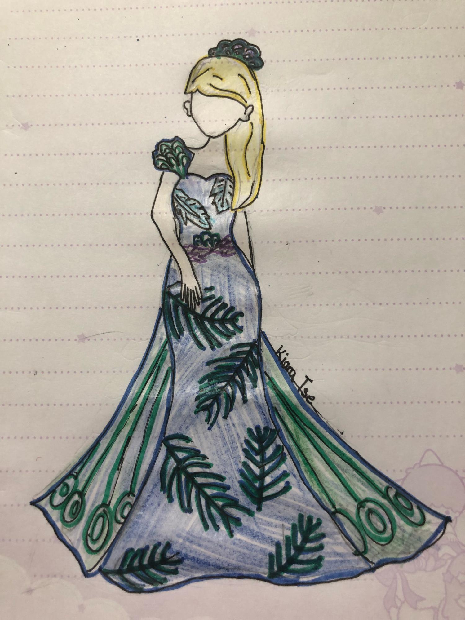 Mrs Agreste 's dress