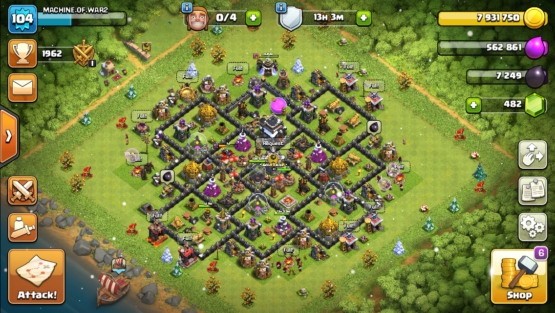 How's my base , cannons and wiz towers will be maxed shortly !👀