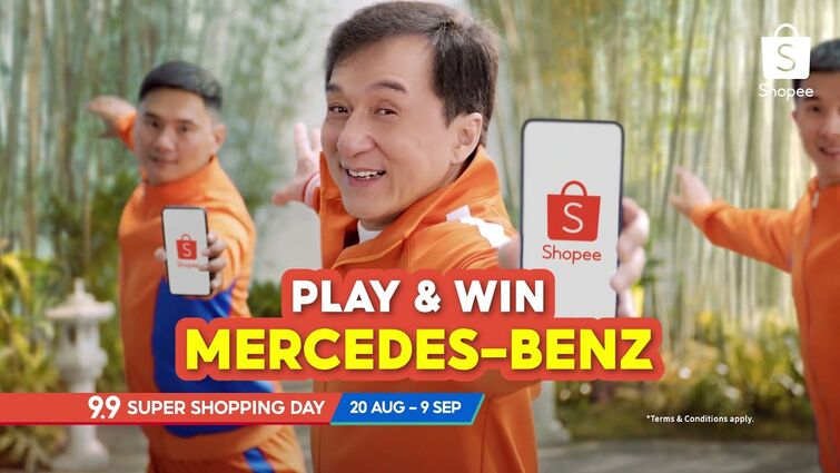 Introducing Jackie Chan, Shopee's 9.9 Legend