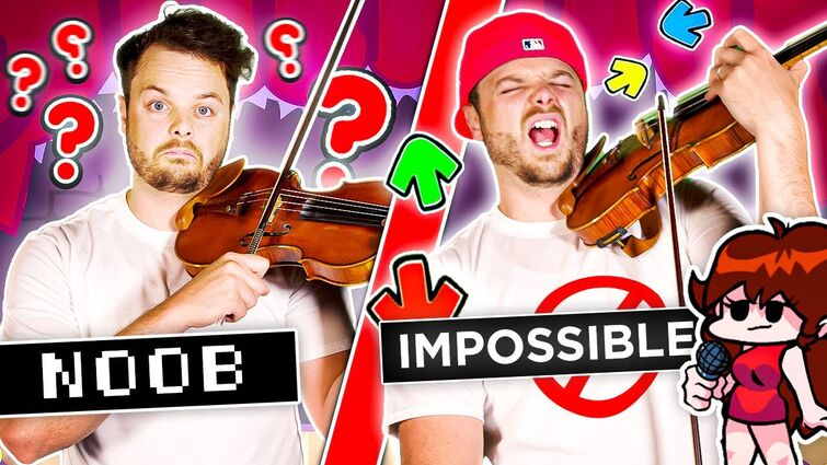 Friday Night Funkin' Music: Noob to IMPOSSIBLE on Violin