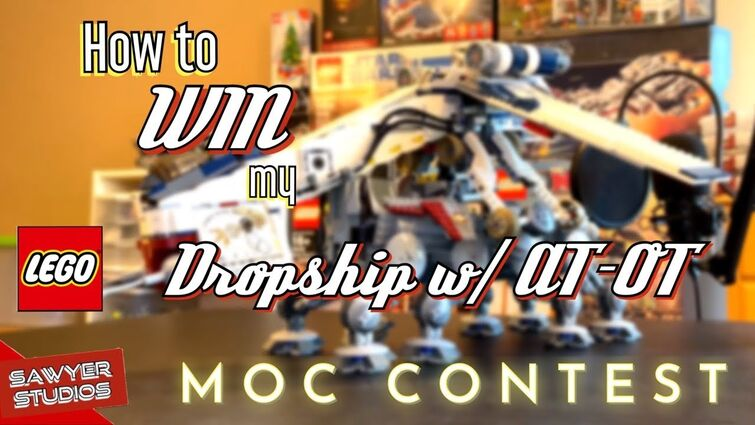 How to WIN my LEGO Star Wars Dropship with AT-OT walker (10195) | Not click-bait!