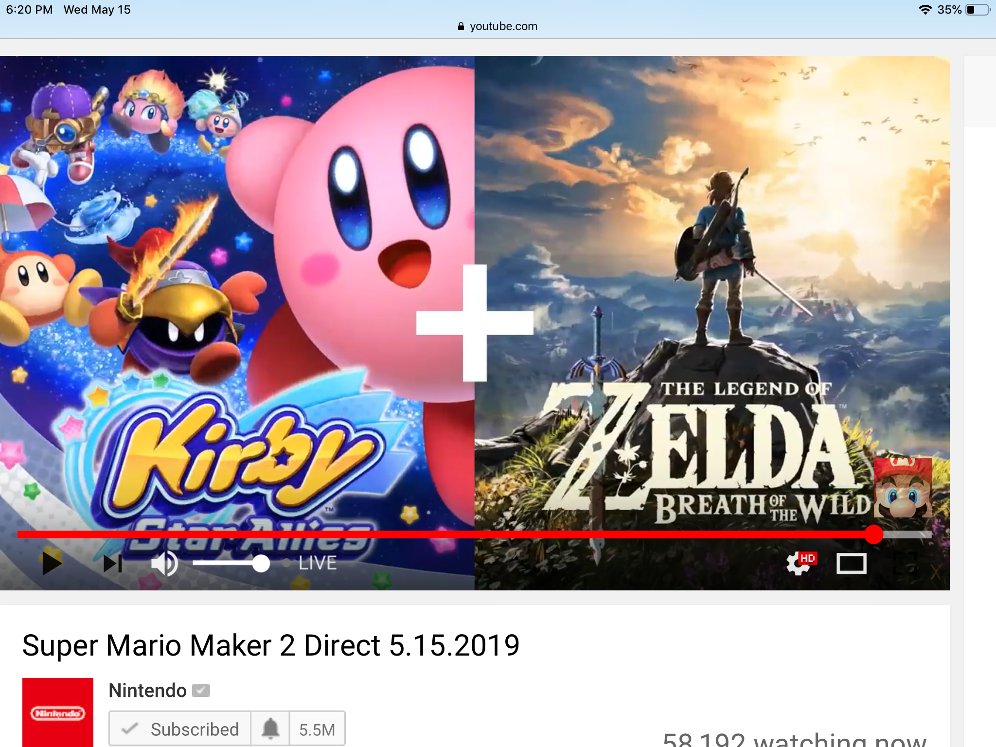 OH MY GOSH KIRBY WAS IN THE MARIO MAKER 2 DIRECT, WHAAAA-