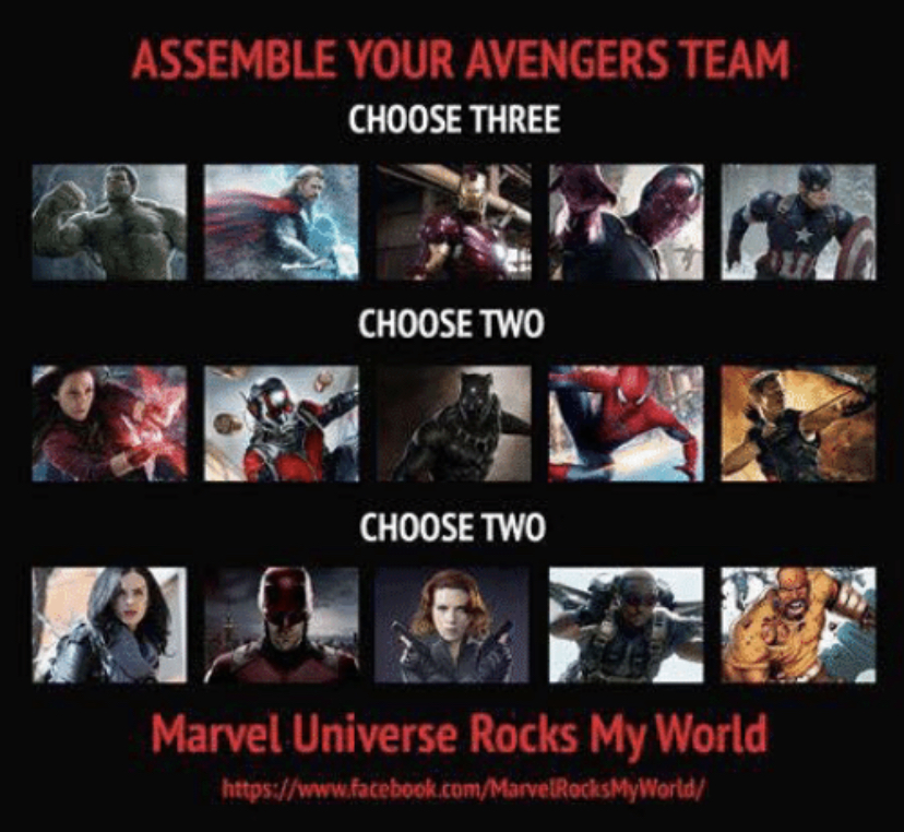 Your Avengers Team!