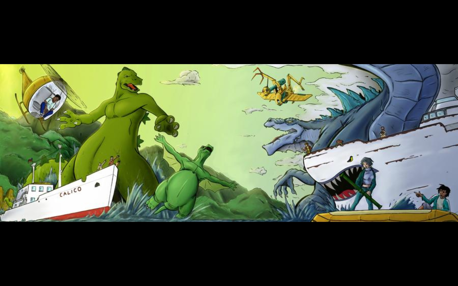Zilla Junior VS Godzilla Hanna-Barbera