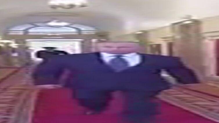 Wide Putin walking but he's always in frame (full version)