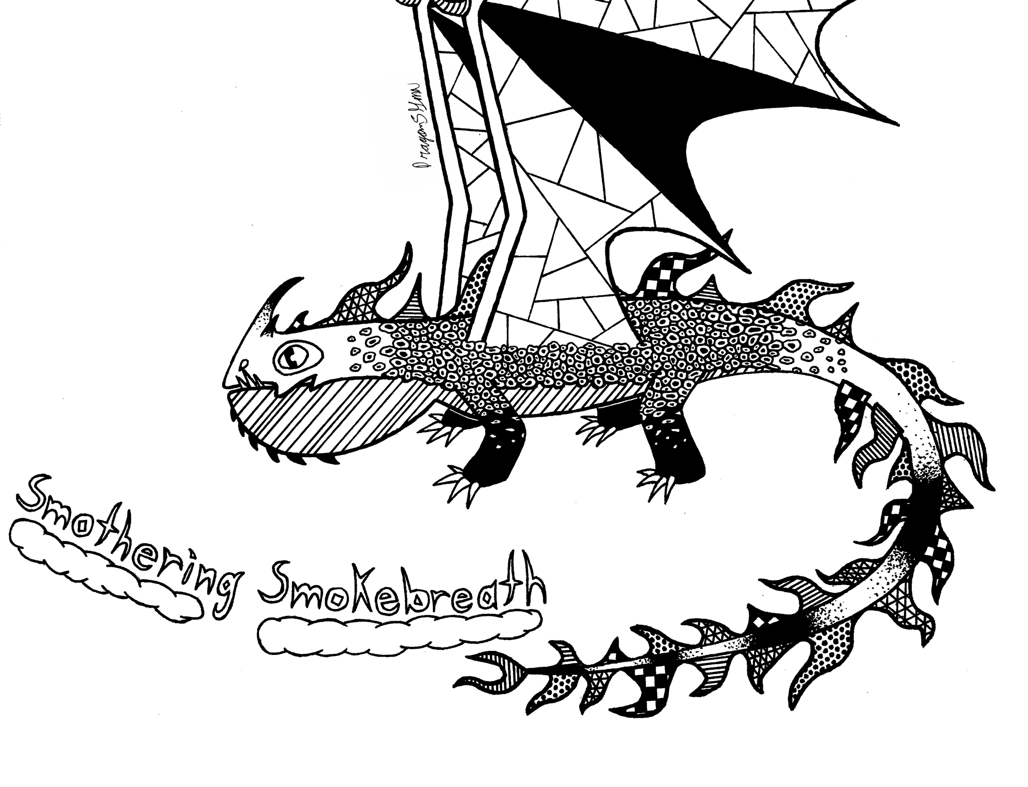Smothering Smokebreath Zentangle (Open for Suggestions)