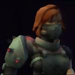 Cyborg redhead