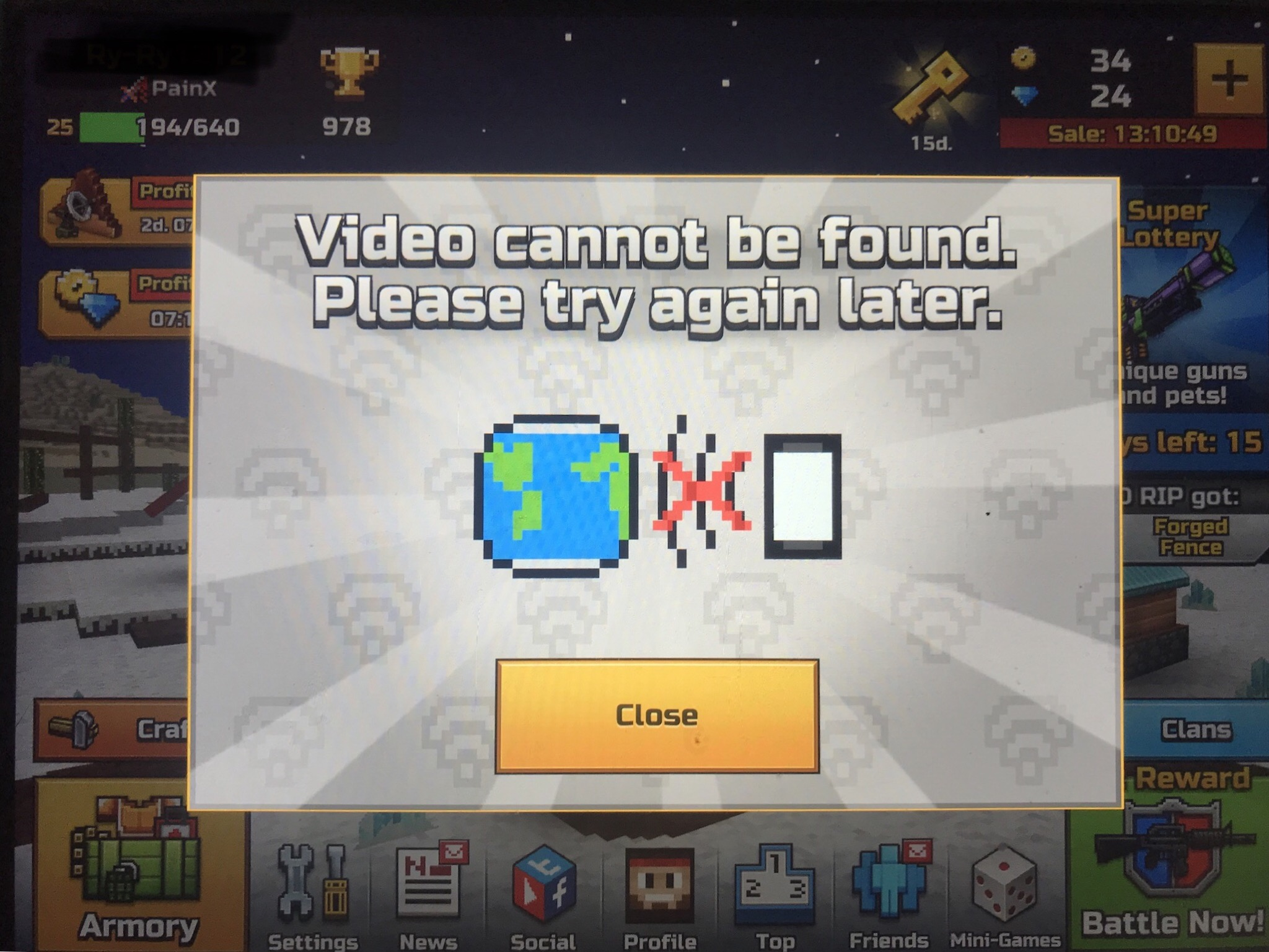 Free Currency Chest Error