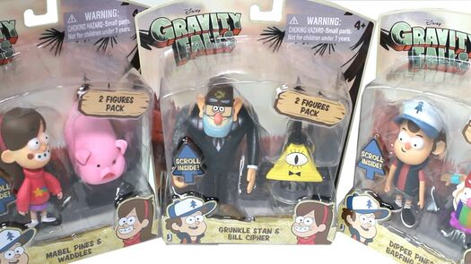 Gravity Falls Figures - Mabel, Dipper and Grunkle Stan Unboxing Review