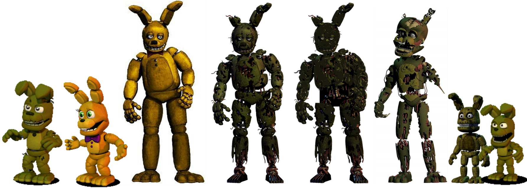 """Speculation"" Could the discs be responsible for Springtrap's sudden model change from FNaF 3 to 6?"