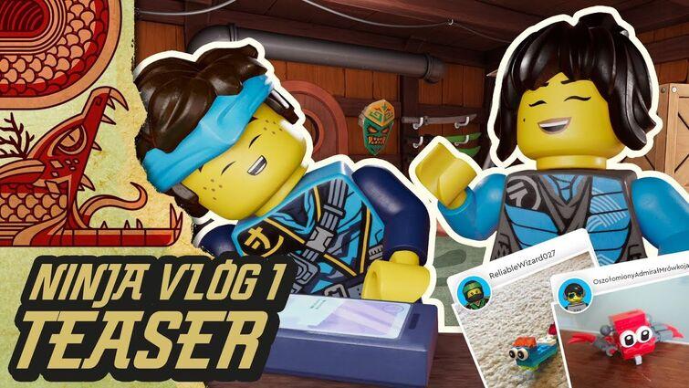 Ninja Vlog #1: Our FIRST ever Ninja Vlog! | Nya & Jay from LEGO NINJAGO