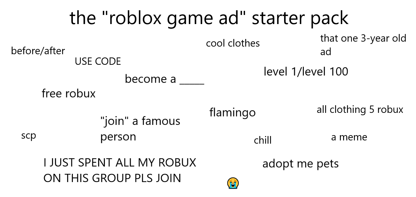 Spending All My Robux On My New Roblox Merch The Roblox Game Ad Starter Pack Fandom