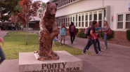Bear statue in leave your mark