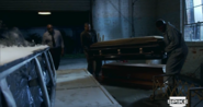 Behold! A casket that just have been taken out of a grave!