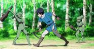 Yūsuke Yotsuya Fighting goblins
