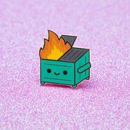 Original Dumpster Fire Pin 2