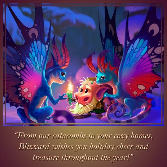 Blizzard sends holiday greetings!
