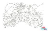 Party Island concept art by Daniel Bressette