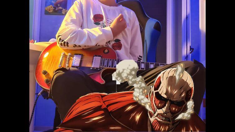Attack on Titan OP1 - Guren no Yumiya - Guitar Cover | Dae