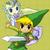 Zelda and Link the Heroes of Hyrule