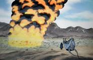 Village being burned in Kou