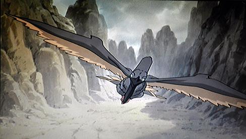 Youma bird attacking enki.png