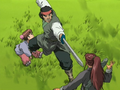 Kotetsu guarding child