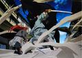 Youko and En in battle