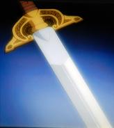 Looking into sword