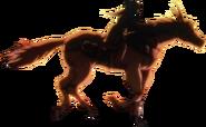 Suzu riding Sansui