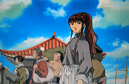 Youko exiting ship