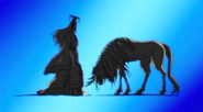 Kirin bowing to owner