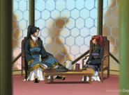 Shoryu talking to yoko
