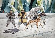 Sanshi guarding Taiki