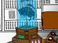 Skillet inside a machine