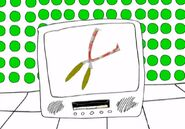 Bloody Spears on a television screen in Eighteen