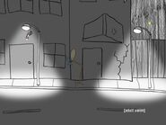 Liquor walking in the nighttime
