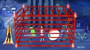 Professor Wilx's laser cage