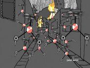 Flying Bowtie Bots in between buildings