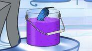 Wilx's purple liquid in a clear bucket