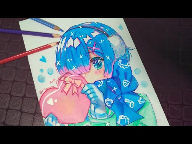Speed-Drawing Rem re zero. Re zero :  in another world