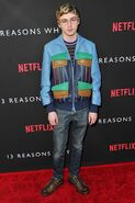 13 Reasons Why Red Carpet Premiere - Miles Heizer
