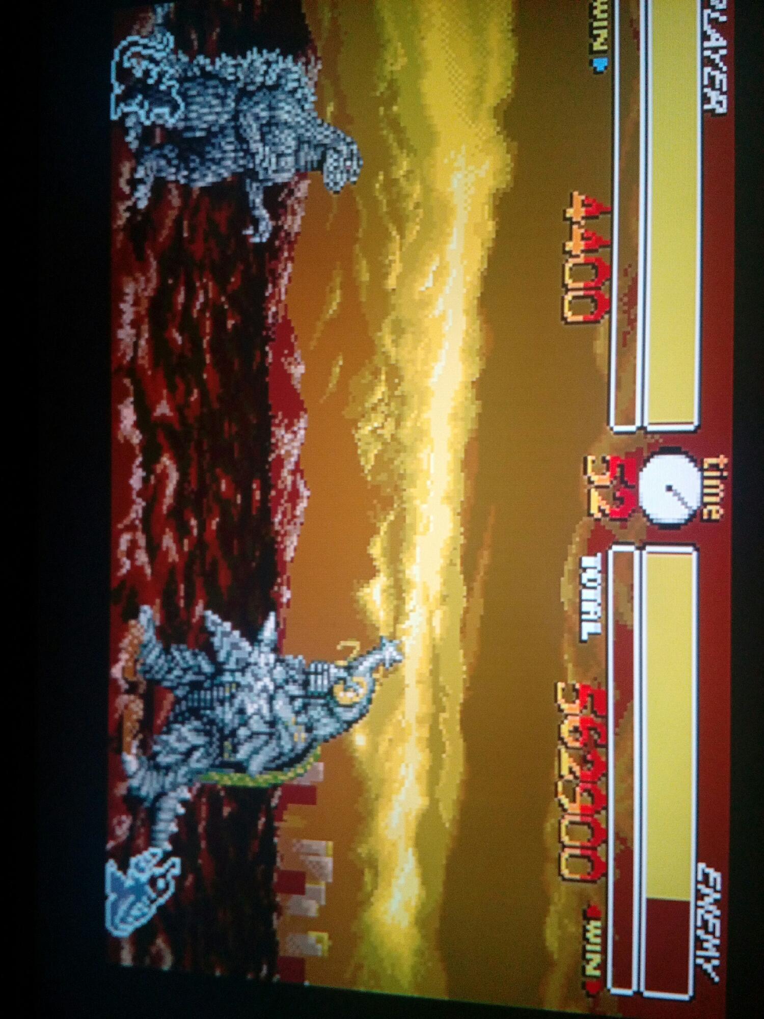 Godzilla se enfrenta al mounstro taladro megalon