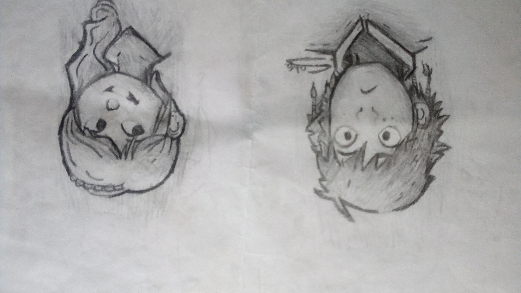 Jaja me salió al revés pero bueno, aquí les traigo un dibujo que hice hace mucho sobre hipo y Astrid, díganme si les gustaa 😂😆