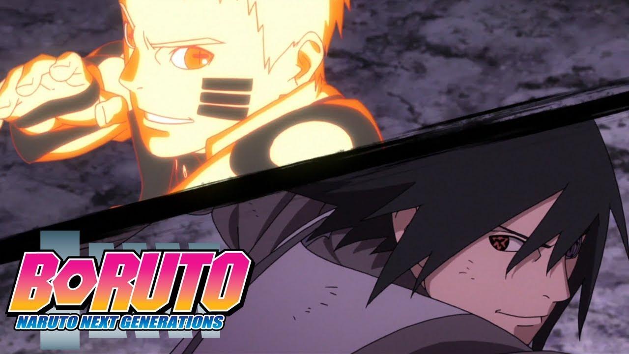 Naruto and Sasuke vs Momoshiki | Boruto: Naruto Next Generations