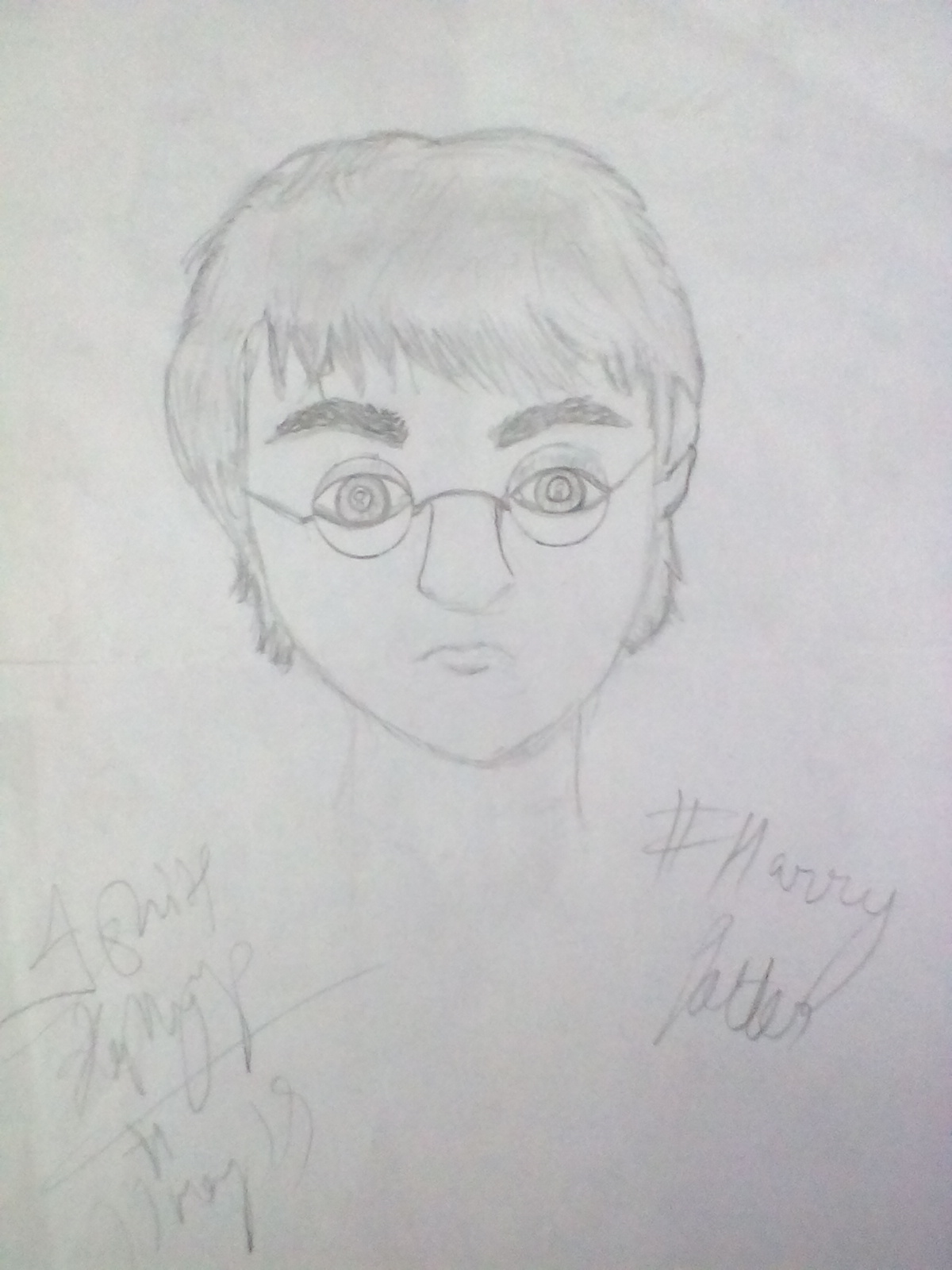 First ever portrait of Harry made by me ..😊😊