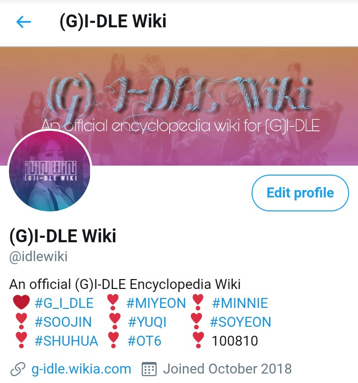 (G)I-DLE Wiki's Official Twitter Account